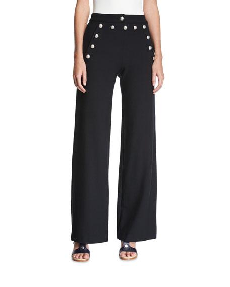 Shore Sailor Wide-Leg Pants, Black