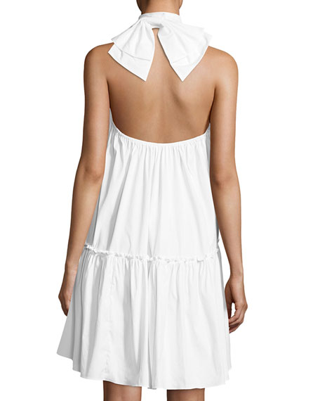 Bo Halter Poplin Mini Dress