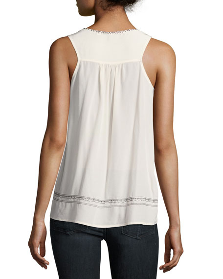 Merles Sleeveless Silk Top