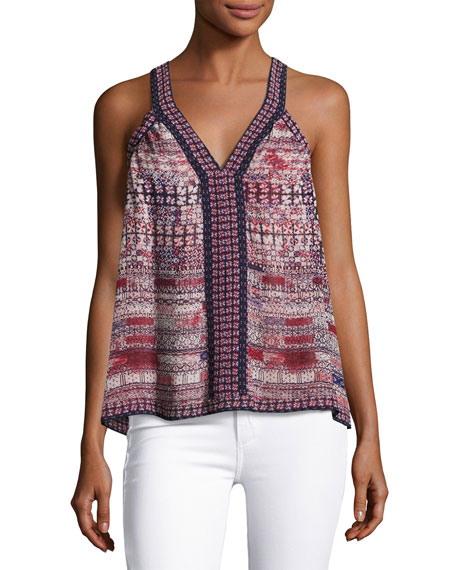 Maisley Sleeveless Silk Tank Top