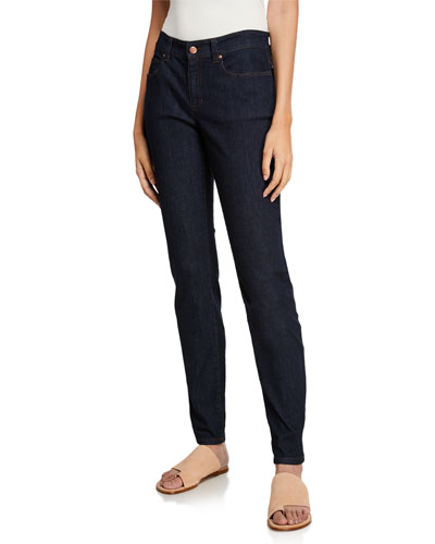Stretch Skinny Jeans, Indigo, Plus Size