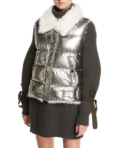 Moncler Turtleneck Ribbed Ribbon Sweater Dress and Matching