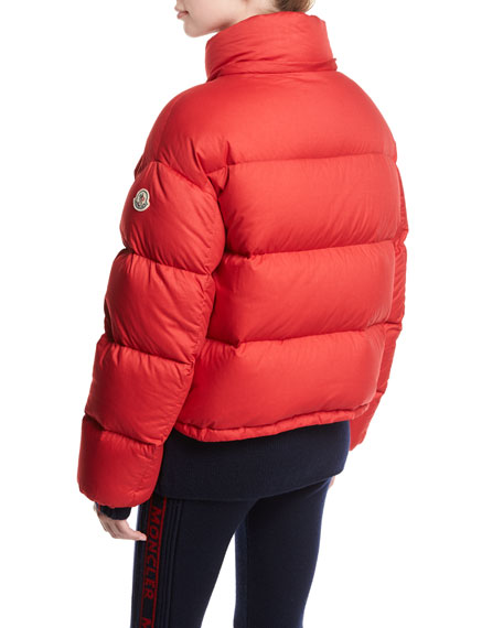 moncler red puffer