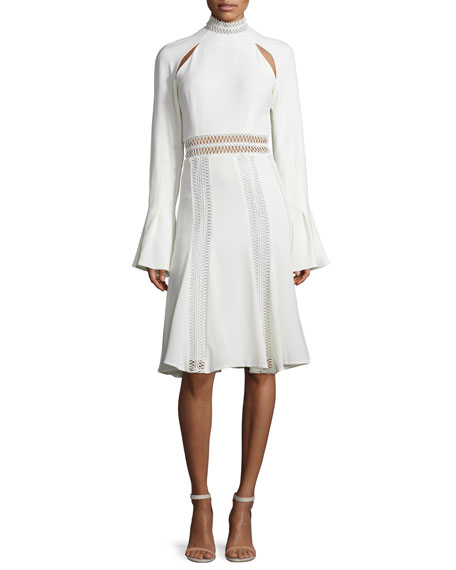 Jonathan Simkhai Trumpet-Sleeve Flare Dress