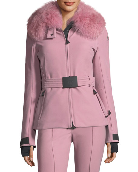 Moncler Front-Seam High-Waist Flared Pants and Matching Items