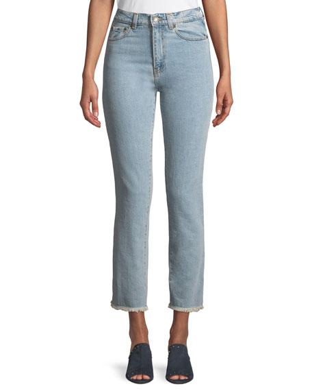 Magda Butrym Evansville High-Waist Cropped Straight-Leg Jeans