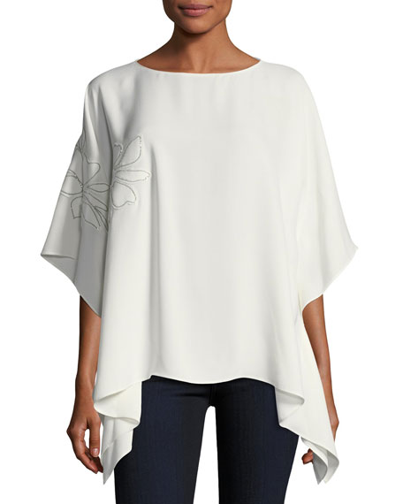 Lafayette 148 New York Abbot Silk Kimono Blouse