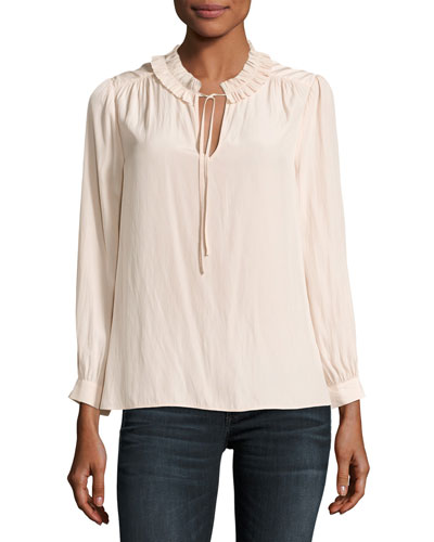 Evangelene Long-Sleeve Slipover Top
