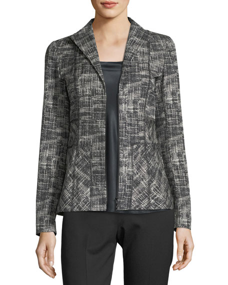 Britta Urban Grid Zip-Front Jacket
