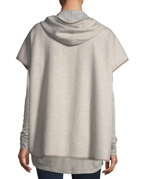 Fur-Front Hooded Jacket