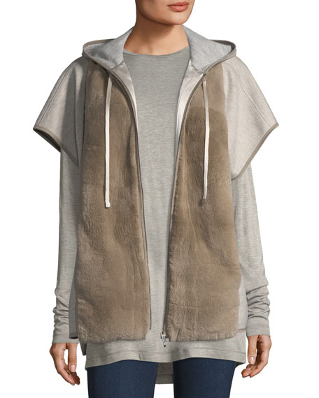 Lafayette 148 New York Fur-Front Hooded Jacket and