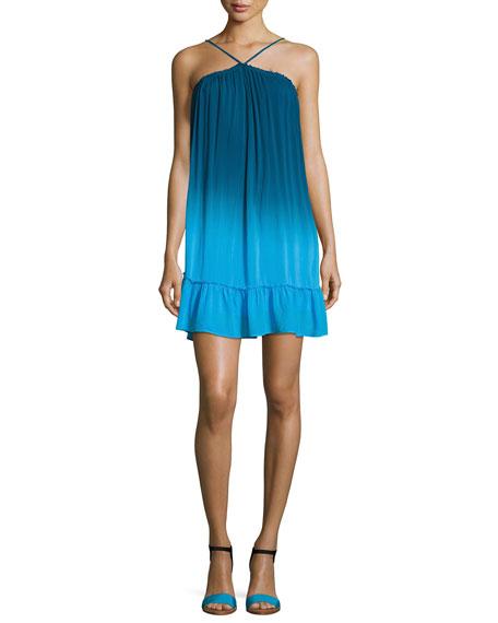 Lissa High-Neck Ombre Shift Dress