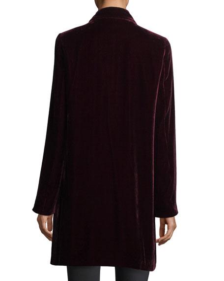 Naveah Open-Front Velvet Jacket