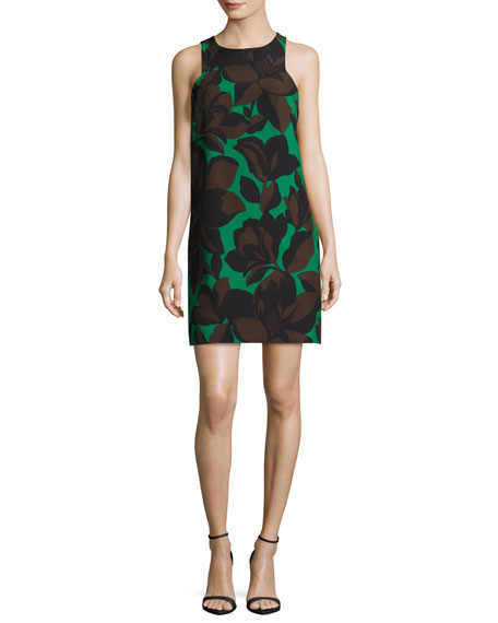 Milly Sleeveless Floral-Print Cady Minidress