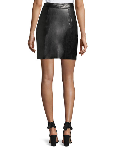 Lightweight Leather Miniskirt