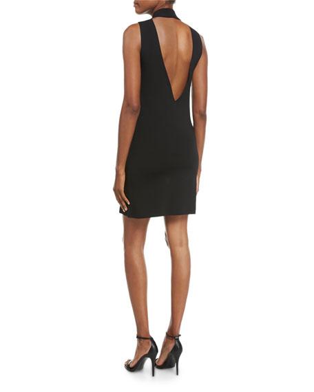 Rose Sleeveless Low-Back Cocktail Dress