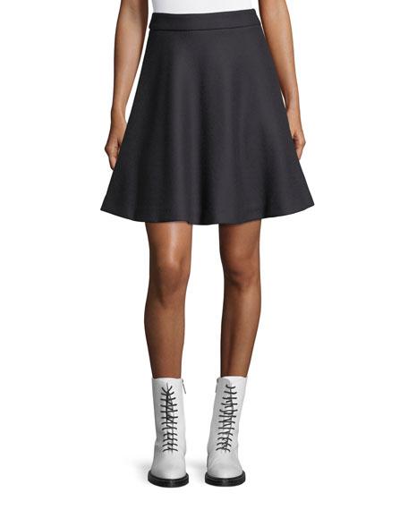 Woven Wool-Blend Circle Skirt