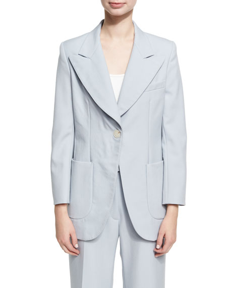 Alexa Chung Single Breasted Wool Jacket, Blue