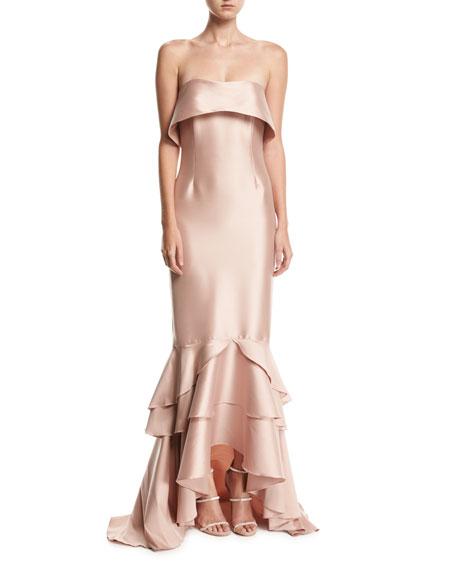 Sachin & Babi Noir Hattie Strapless Gown, Blush