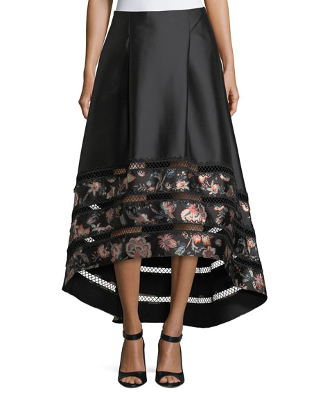 Sachin & Babi Noir Faye High-Low Ball Skirt