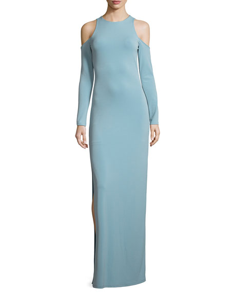 Alice + Olivia Dawna Side-Slit Cutout Maxi Dress
