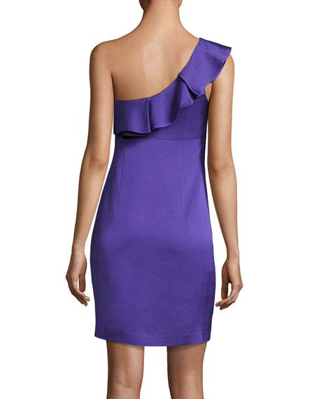 Intrigue Ruffled One-Shoulder Sheath Dress