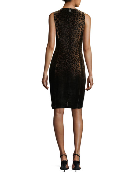 Jemra Sleeveless Leopard-Print Dress