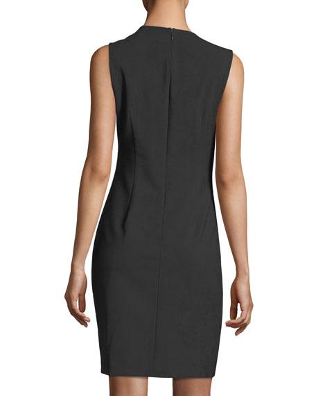 Clarette Sleeveless Stretch-Wool Dress