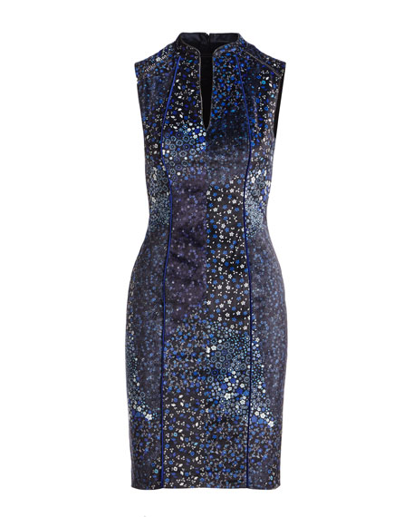 Arabella Sleeveless Piped Sheath Dress