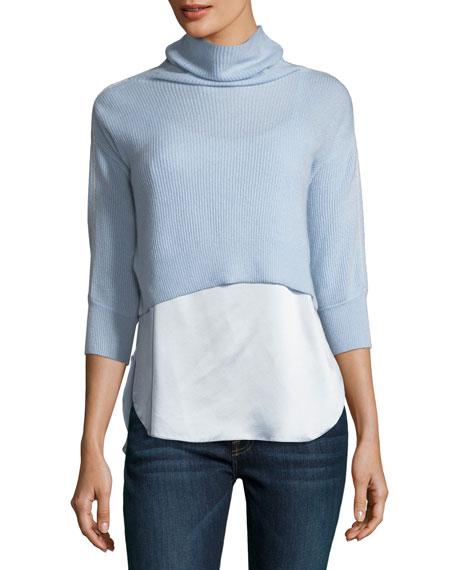 Elie Tahari Claudetta Cashmere & Silk Combo Sweater