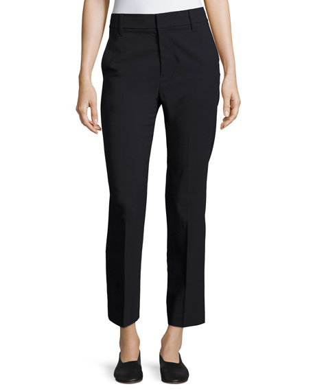 Vince Tapered Mid-Rise Straight-Leg Wool Trousers and Matching
