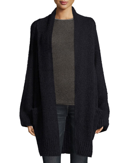 Marled Oversized Cardigan Coat