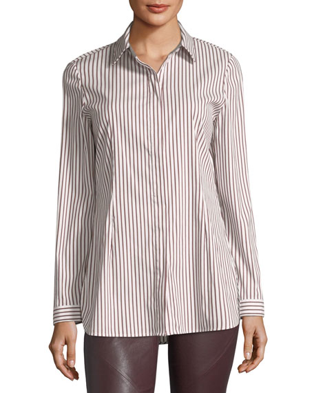 Jake Supreme Striped Button-Front Blouse