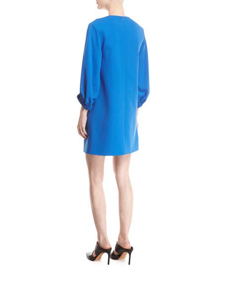 Stretch-Crepe Shift Dress