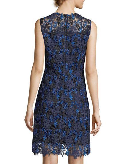 Ophelia Sleeveless Floral Lace Dress
