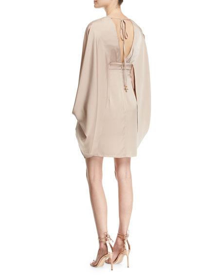 V-Neck Stretch-Silk Kimono Dress