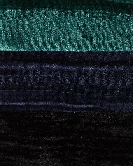 Long Crinkled Velvet Shirt, Petite