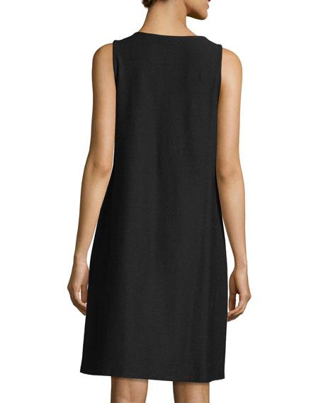 Sleeveless Washable Stretch-Crepe Dress