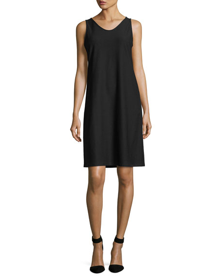 Eileen Fisher Sleeveless Washable Stretch-Crepe Dress