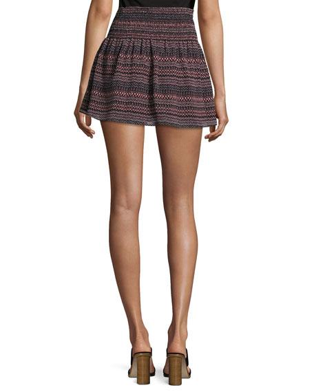 Alphosine Geo Stripe Mini Skirt