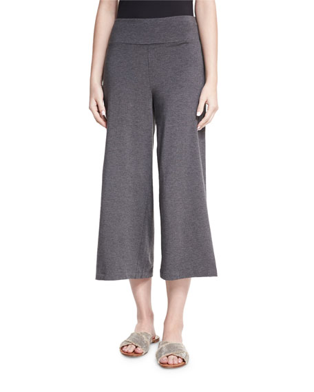 Eileen Fisher Cozy Wide-Leg Pull-On Pants