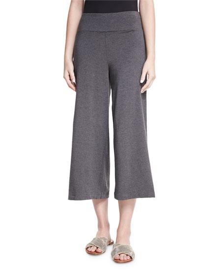 Eileen Fisher Cozy Wide-Leg Pull-On Pants