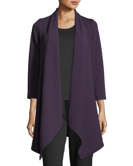 Caroline Rose Chevron Knit Draped Jacket, Plus Size