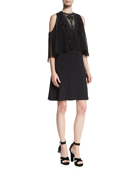 Kobi Halperin Malia Cold-Shoulder Popover Dress