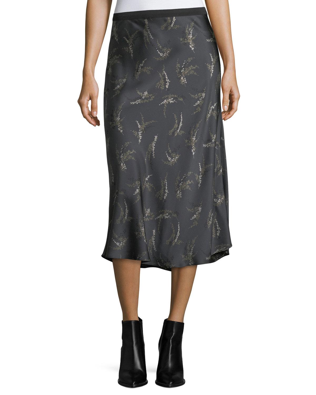 b5782298f0 Vince A Line Satin Slip Midi Skirt – DACC