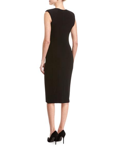 Power Crepe Sheath Dress