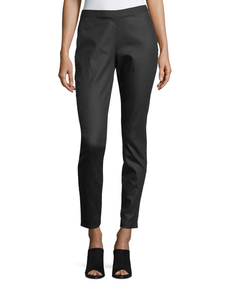 Eileen Fisher WMNS COATED ORG CTTN JEANS