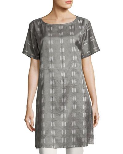 Natural Dyed Shibori Long Tunic