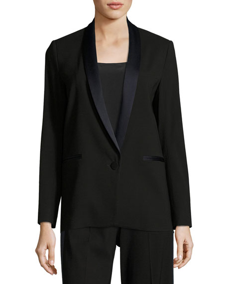 Antonelli Satin-Trim Tuxedo Jacket and Matching Items