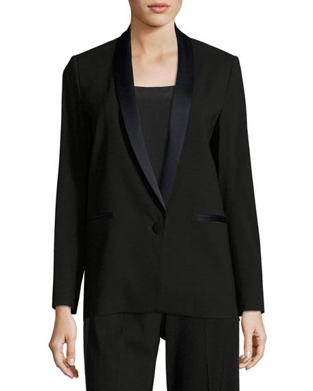 Satin-Trim Tuxedo Jacket